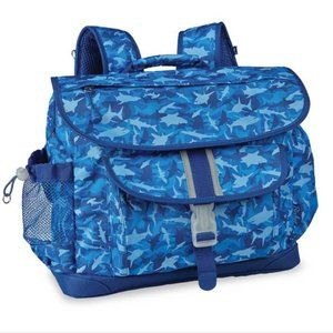Bixbee Shark Camo Blue Backpack (Medium)